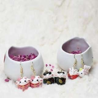 🐱Fortune Cat Porcelain Earrings🐱