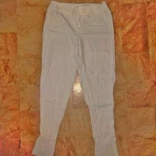 White Fitted Pants