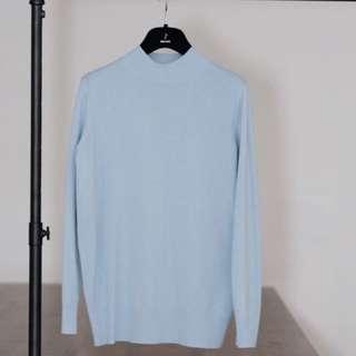 🚚 Dresscode Baby Blue棉針織上衣