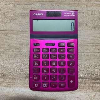 二手casio計算機JW-200TW(桃紅色)