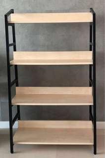 Elegant 4-Tier Wood & Metal Display Rack