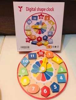 全新 TIANQI日本木制時鐘玩具 (包順豐站自取