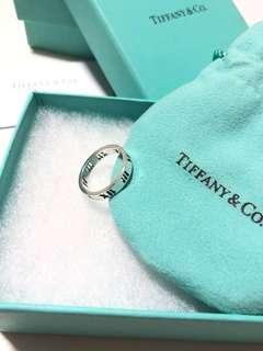 2手 Tiffany 925純銀 羅馬數字 介指 size 4.5 8成新