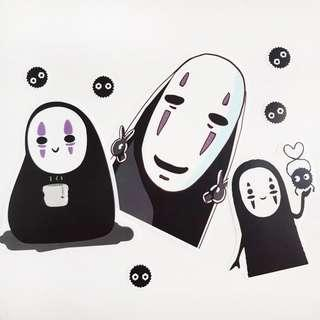 🚚 Spirited Away (No Face, Soot) Stickers