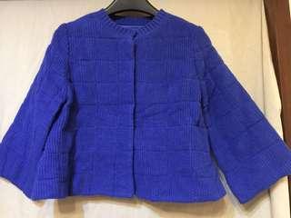 MOMA針織內鋪棉可愛短版九分袖外套