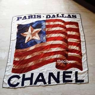 RARE ITEM ! - CHANEL XL SHAWL / SCARF / BLANKET - CHANEL DALLAS RUNWAY COLLECTION - LIKE NEW - WITHOUT TAGS - (RETAILS AROUND RM 6000+) - RM 498