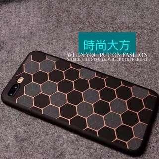 🚚 i8 i7個性線條圖紋手機保護殼