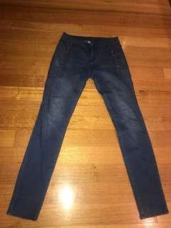 Witchery jeans sz 11 excellent condition straight leg denim medium-light blue