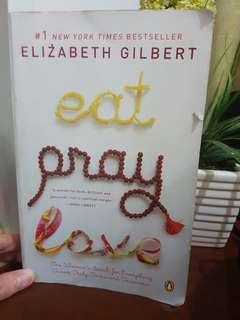 Eat Pray Love by E. Gilbert (large paperback)