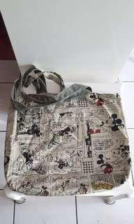 Mickey mouse cotton tote bag -Reversible design