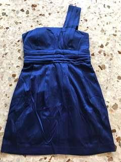 Cobalt blue toga dress