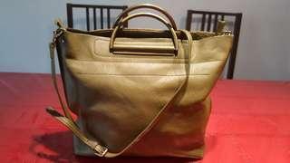 Olive Green genuine leather bag