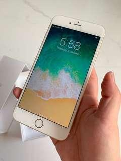100% Battery Health! Apple iPhone 6 Plus Gold 64gb + Box