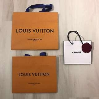 Louis Vuitton and Chanel Beauty (Red Velvet Camellia) Paper Bag