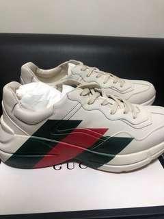 Gucci Rhyton Leather Web Print Sneaker US 11