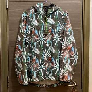 男裝 花 運動 風褸 Men Sports Floral Jacket Half Zip Training