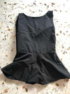Black chiffon sexy top