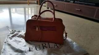 Furla orange/fushia handbag - used 2x !!!