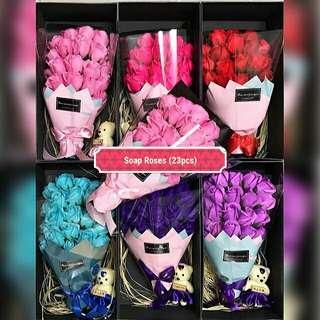 23pcs Soap Roses Bouquet 《READY STOCK》#50TXT #makespaceforlove