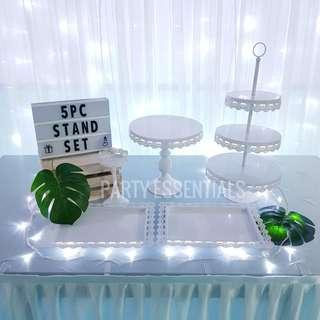 5PCS White Cake Stands [Rent]