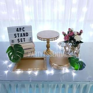 4PCS Gold Cake Stands [Rent]