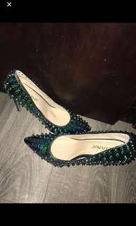 Chrome Spiked Heels