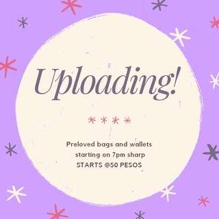UPLOADING TONS OF PRELOVED BAGS AND WALLET