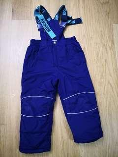 Toddlers skiing pants, used for one trip only