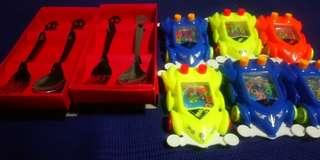 Bundle: Kiddie Spoon and Fork  + Toy Car Water Game