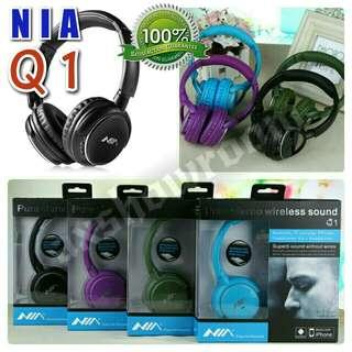 Quality Wireless Bluetooth Headset :  NIA Q1 4-in-1 Over-The-Ear Bluetooth Wireless Headphones With Direct MicroSD Card Wav Mp3 Playback