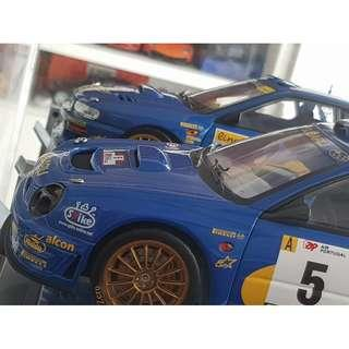1/18 Autoart Subaru Bug Eye WRC, Rally Portugal, Richard Burns