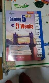 英文練習簿getting 5** in 9 weeks