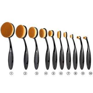 10pcs Oval Brush