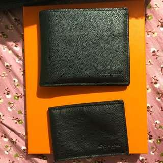 AUTHENTIC QUALITY COACH WALLET AND CARD HOLDER