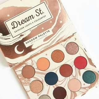 [READY STOCK] COLOURPOP DREAM ST. PALETTE  Don't blink, even for a second! You don't want to miss our dreamiest palette yet. Super versatile warm toned nudes with rich pops of colour