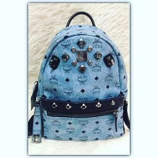 MCM Backpack Small Blue (pocket dpn dapat lepas pasang menjadikan pochette sling 😍) #mcmbackpack#mcmbag#mcmsmallblue#secondbranded#authentic#authenticbag