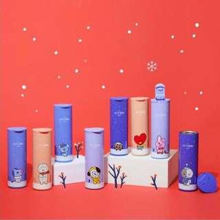 (Pre-Order) Official BT21 Christmas/Winter Thermos Bottle - chimmy and cooky