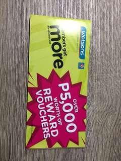 Watson reward vouchers (sa may mga watson card lang po)