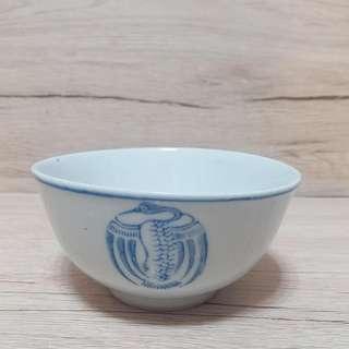 民國手繪團鶴碗 寬11.5cm 高5.8cm 全品