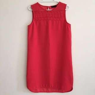 [REDUCED] SEED Sleeveless Shift Dress PINK US 4