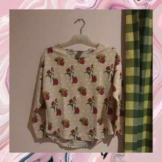 Pink Flowery Top Import