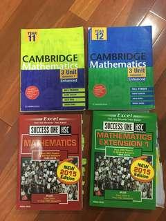 Cambridge mathematics 3 unit enhanced and Excel mathematics past papers