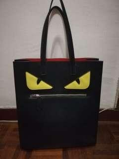 Fendi Copy Ori Monster Tote Bag with Red Inlay