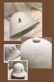 🍒降🍒Kangol 米白色鐘型帽 漁夫帽 聖誕禮物 交換禮物 禮物