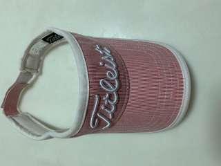 Titleist Golf Cap / Sun Hat Pink Striped