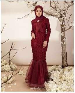 Sewa Baju Azuredzua Marion Kurung XS