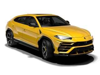 Bburago Lamborghini Urus SUV Car [Yellow] Scale 1/18