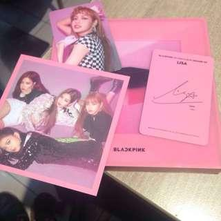 [ONHAND] SQUARE UP by BLACKPINK ( Pink Ver) with Lisa Photocard and Lisa Message Card Great Condition