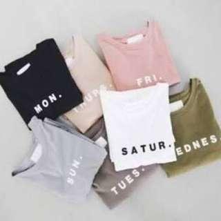 Everyday Shirt (Monday to Sunday)