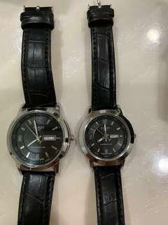 Couple watch black strap